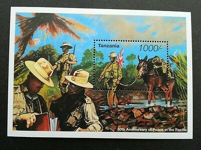 Tanzania WWII 50th Anniversary Of Peace In The Pacific 1995 World War (ms) MN