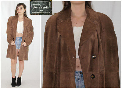 Vintage 70´s PIERRE CARDIN jacket coat SUEDE LEATHER minimalist MADE IN SPAIN