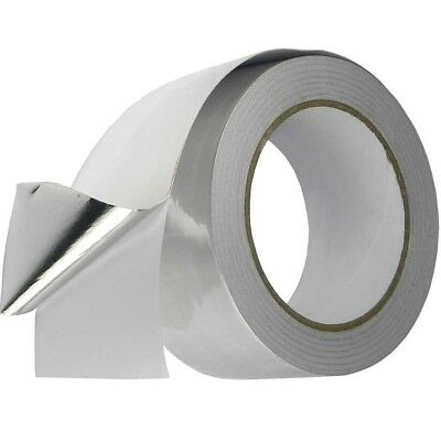 3 Rolls Silver Duct Aluminium Foil Tape Self Adhesive 50Mm X 50M Heat Insulation