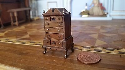 Miniature Dollhouse Artisan John Davenport Highboy 1:48 or Jewelry Chest 1:12