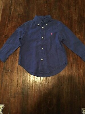 Boys Age 3 Linen Ralph Lauren Shirt In Excellent Condition