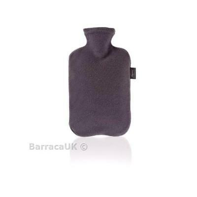 NEW Fashy 2 Litre Anthracite Hot Water Bottle with Fleece Cover