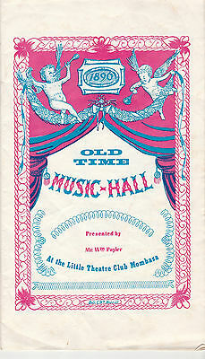 1963 Theatre Programme - Old Time Music Hall - Little Theatre Club Mombasa
