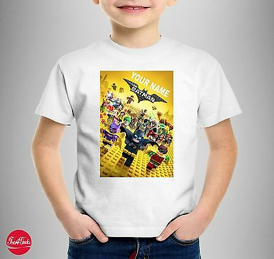 """Your Name Is The Lego Batman """"Personalised"""" T-SHIRT T SHIRT Kids Birthday Gift"""