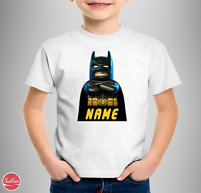"""The Lego Batman Personalised """"Your Name"""" T-SHIRT the lego movie 2 second part"""