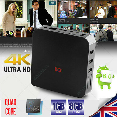 UK Amlogic S905X 4K MX PRO Android 6.0 Fully Load Internet Quad Core WIFI TV Box