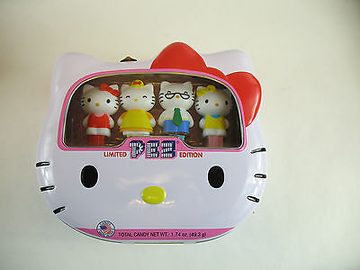Hello Kitty 4 Pez Dispensers in Tin Sealed Limited edition