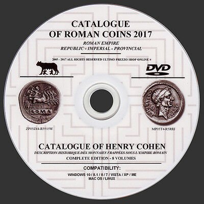 Roman Coins Catalog 2017 On Dvd - Original - English Language
