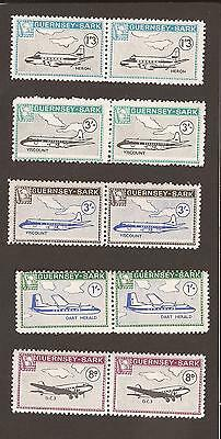 GB - Guernsey - Sark 1960's. (MNH) Planes & Map of island