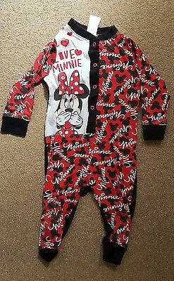 Minnie Mouse baby girl sleepwear romper black/red 18-24 months used
