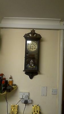 antique Ansonia 8 day wall clock working order