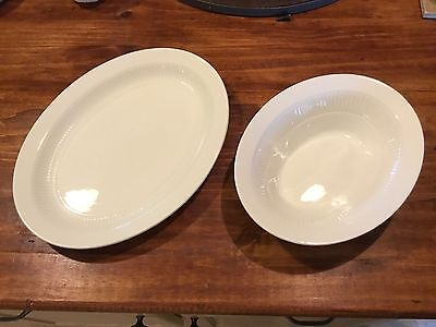 Wm Adams & Sons Real English Ironstone White MICRATEX Platter And Bowl