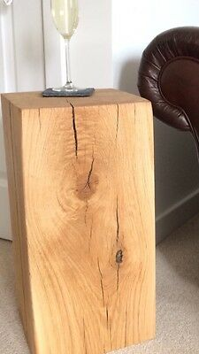 English Oak Beam Blocks/lamp Stand/side Table.