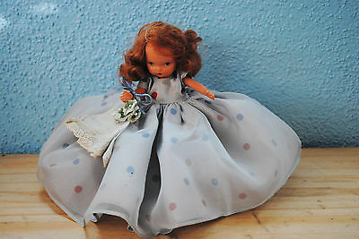"""Vintage 5"""" Nancy Ann Bisque Storybook doll Wednesday Jointed JT LOOK!"""