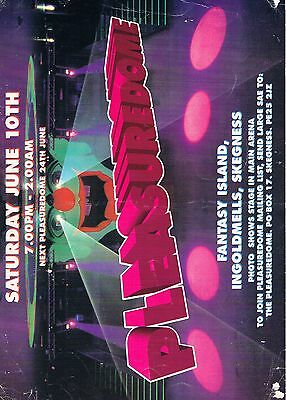 PLEASUREDOME Rave Flyer Flyers year unknown A4 Fantasy Island Ingoldmells