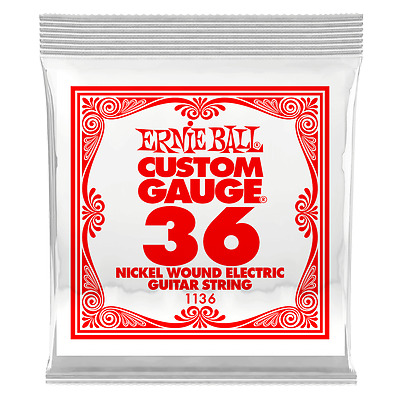 Ernie Ball .036 Nickel Wound Electric Guitar String 1136 single