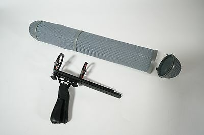 Rycote microphone wind cage, hand grip and cover