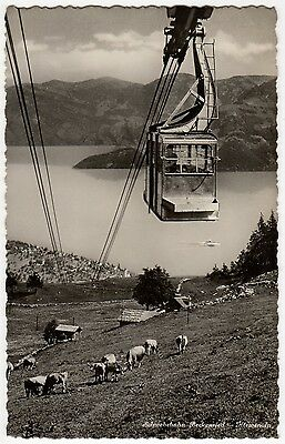 SCHWEBEBAHN BECKENRIED - KLEWENALP, SWITZERLAND ~ AN OLD PHOTO POSTCARD (Ab11)