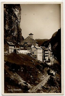 GONDO, SWITZERLAND ~ AN OLD PHOTO POSTCARD (aB9/10)