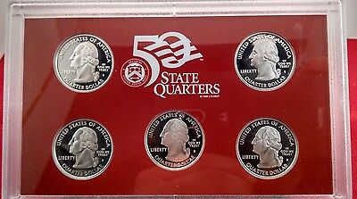 2008 State Quarters Silver Proof Set W Box And Coa