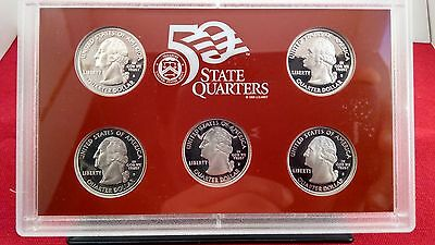 2005 State Quarters Silver Proof Set W Box And Coa