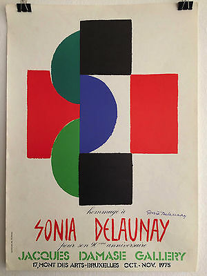 Sonia Delaunay Affiche Jacques Damase Gallery Bruxelles 1975