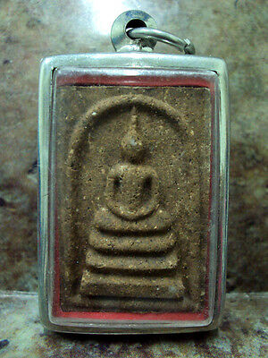 Somdej Yant 5 Rows Talisman Magic Real Thai Buddha Amulet Wealth Luck Protection