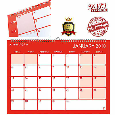 2017 A4 Wall Planner Calender Month to View Large Spiral Calendar Home Office