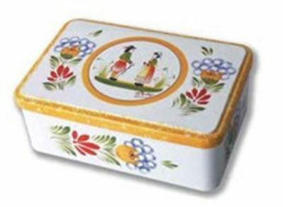 Quimper Tin Cookie Box - Hortense