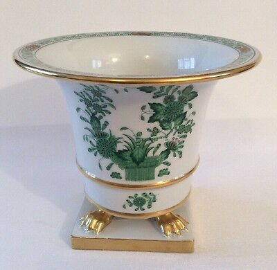 Herend Porcelain Gilded Apponyi Cache / Flower Pot - Excellent - Herendi Kaspo