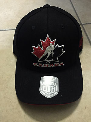 Team Canada Old Time Hockey Adjustable Hat! Officially Licensed Cap, Black & Red