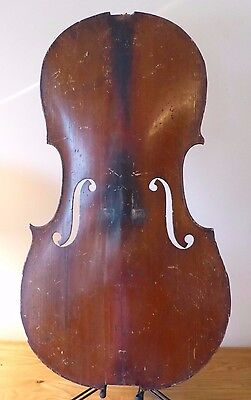 "OFFER ANTIQUE c19th GERMAN CELLO 4/4 SPRUCE TOP PLATE  LOB 29 1/2""  violin viola"