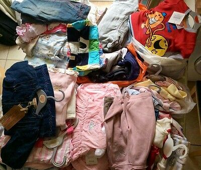 Large Bundle of NEW Baby Clothes Early Baby to 3 Years