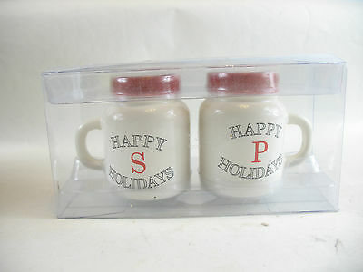 Happy Holidays Salt and Pepper Shakers