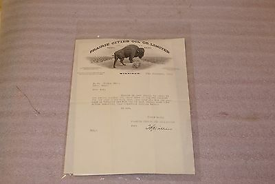 1930 Prairie Cities Oil Co Limited Winnipeg Letter Requesting Payment