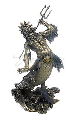 Ancient Greek Statue Poseidon A Sculpture Olympian God Zamac Gods Mythology King