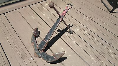 ANTIQUE BOAT ANCHOR   EARLY NAUTICAL VINTAGE MARITIME chris craft wood runabout