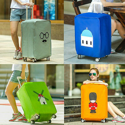 "20-28"" British Style Luggage Suitcase Cover Protect Bag Dustproof Protector New"
