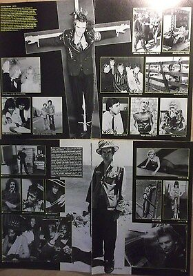 4 german clipping JOHNNY ROTTEN SEX PISTOLS N. SHIRTLESS PUNK ROCK BOY BAND BOYS