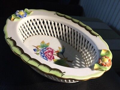 Vintage Herend (Hungary) Lattice Dish A/F