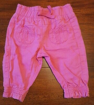 Baby girls Next Age 3-6 Months Pink Trousers (A212)