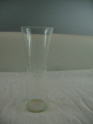 Glass Vase with etched design