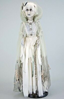 """Katherine's Collection Halloween Forest Cemetery 34"""" Floating Lady In Mourning"""