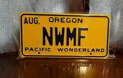 Oregon Pacific Wonderland NWMF Vanity License plate Novelty- NEW