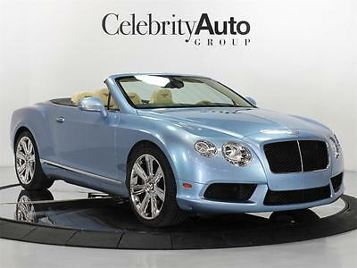2013 Bentley Continental GT C V-8 Convertible 2013 BENTLEY CONTINENTAL GT V8 CONVERTIBLE