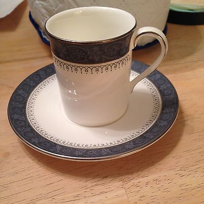 Royal Doulton Sherbrooke Fine Bone China H5009 Demitasse Cup and Saucer  England