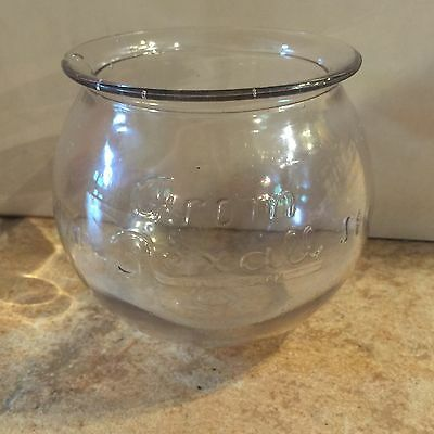 Vintage Antique Rexall Drug Apothecary Store Candy Glass Jar Bowl Air Bubble