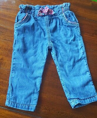 Baby Girls 3-6 months Mini Club Soft jeans (A322)