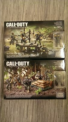 Mega Bloks - Call Of Duty - Jungle Troopers CNF12 & Jungle Rangers DLC00 - BNIB