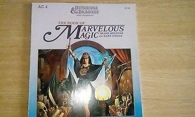 TSR Dungeons and Dragons - Book Of Marvelous Magic - AC4.